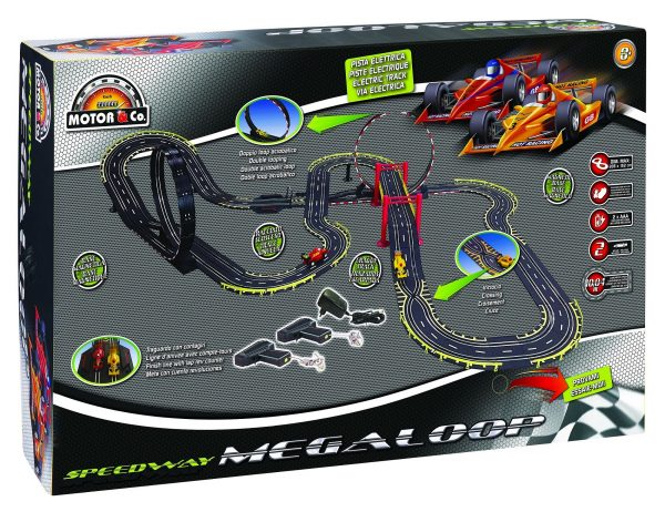 MOTOR&CO Pista elettrica Speedway Megaloop TOYS CENTER Unisex 12+ Anni, 5-8 Anni, 8-12 Anni MOTOR & CO