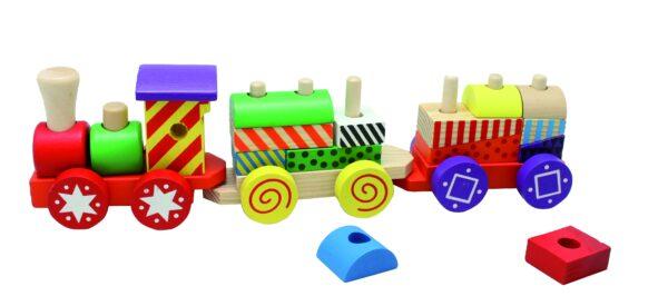 Trenino con costruzioni - WOOD 'N' PLAY - Fino al -30%