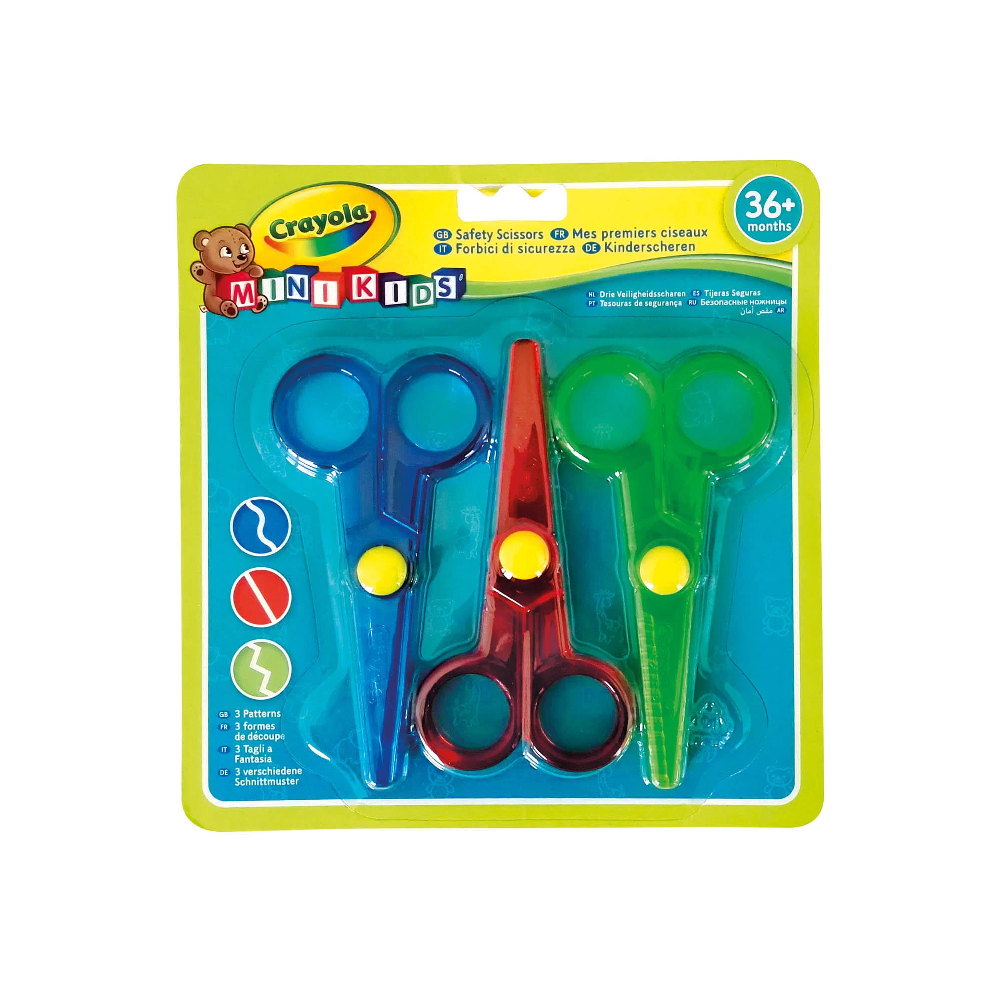 S-TROUBLE 6 Pezzi Forbici Colorate ad Anello per Bambini Easy Grip Self-Opening Scissor Safety Punta Tonda Taglio adattivo Colore Casuale