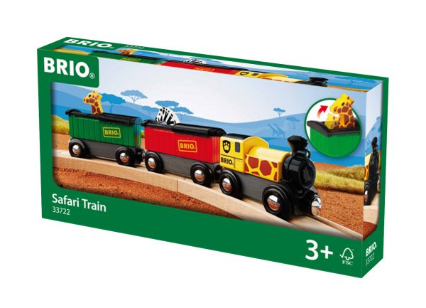 BRIO treno safari - BRIO Trenini, vagoni e altri veicoli - BRIO railway - BRIO - Linee BRIO Unisex 12-36 Mesi, 3-5 Anni, 5-8 Anni ALTRI