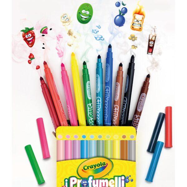 ALTRO ALTRI 10 Pennarelli lavabili profumati punta media i Profumelli Crayola Unisex 12-36 Mesi, 12+ Anni, 3-5 Anni, 5-8 Anni, 8-12 Anni