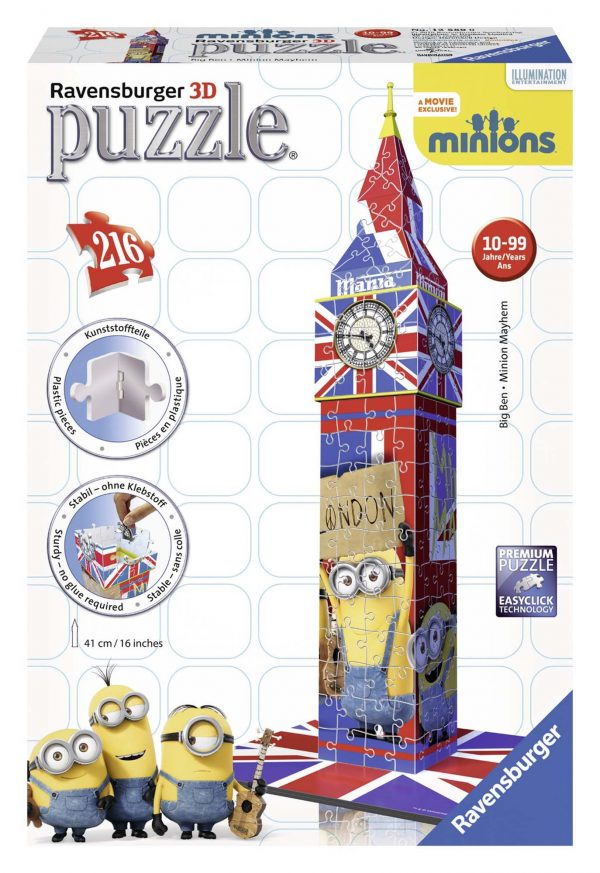 3D Building Big Ben Minions - Ravensburger Puzzle 3d - Toys Center - RAVENSBURGER PUZZLE 3D - Estate
