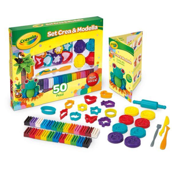 Set Plastilina Crea&Modella 50 pezzi Crayola ALTRI Unisex 12+ Anni, 3-5 Anni, 5-8 Anni, 8-12 Anni ALTRO