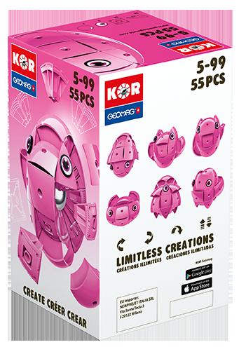 KOR Color Pink - GEOMAGWORLD - Marche ALTRI Unisex 3-5 Anni, 5-7 Anni, 5-8 Anni, 8-12 Anni KOR