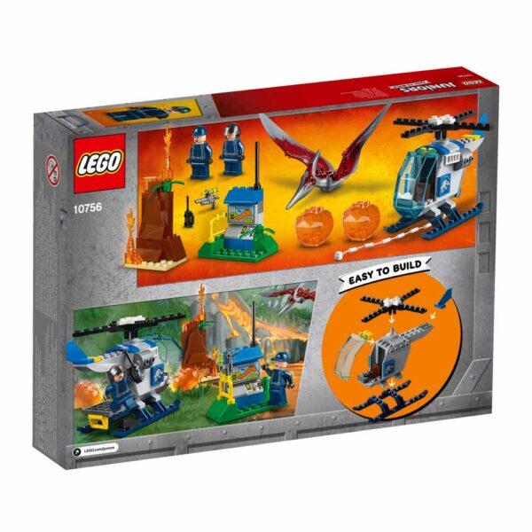 10756 - Fuga dallo Pteranodonte - Lego Juniors - Toys Center JURASSIC WORLD Unisex 3-5 Anni, 5-8 Anni LEGO JUNIORS