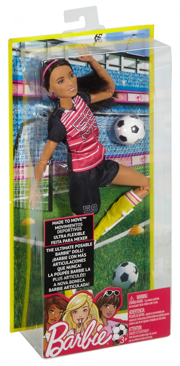 Barbie - Bambola Barbie Snodata Calciatrice 12-36 Mesi, 12+ Anni, 8-12 Anni Femmina Barbie ALTRI