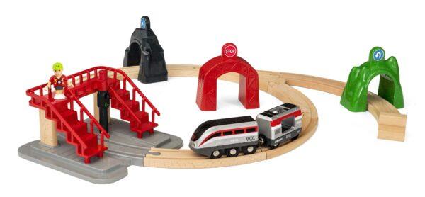 BRIO Smart Tech Set Locomotiva intelligente con tunnel - Brio Set Ferrovia - Toys Center BRIO SET FERROVIA Unisex 12-36 Mesi, 3-5 Anni, 5-8 Anni, 8-12 Anni ALTRI