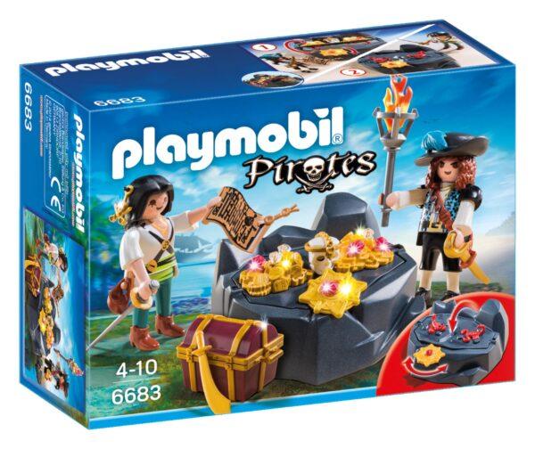 Nascondiglio del tesoro Playmobil Pirates Maschio 3-4 Anni, 3-5 Anni, 5-7 Anni, 5-8 Anni, 8-12 Anni ALTRI