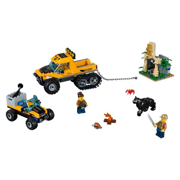 LEGO CITY JURASSIC WORLD LEGO 60159 - Missione nella giungla con il semicingolato Maschio 12+ Anni, 5-8 Anni, 8-12 Anni