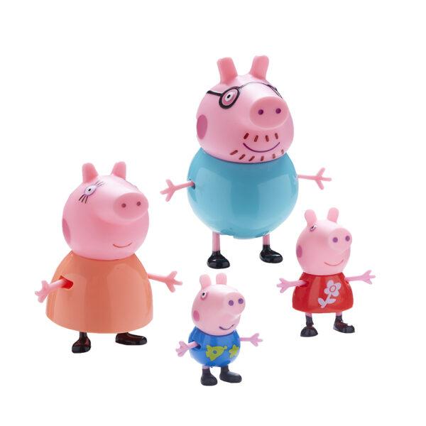 PEPPA PIG PEPPA PIG Giochi Preziosi - Peppa Pig set Famiglia con 4 personaggi Unisex 12-36 Mesi, 3-5 Anni, 5-8 Anni