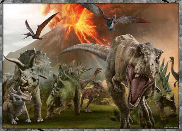 Jurassic World  - Puzzle 4x100 pezzi Ravensburger JURASSIC WORLD Unisex 12+ Anni, 8-12 Anni RAVENSBURGER PUZZLE