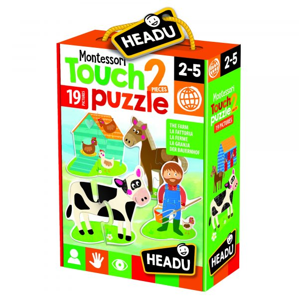 Montessori Touch 2 pieces Puzzle The Farm ALTRO Unisex 12-36 Mesi, 3-5 Anni, 5-8 Anni ALTRI
