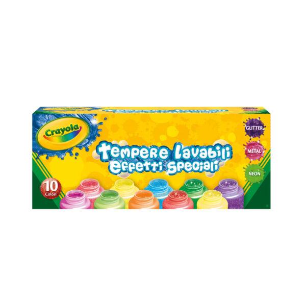 10 Tempere lavabili effetti speciali Crayola ALTRO Unisex 12-36 Mesi, 12+ Anni, 8-12 Anni ALTRI