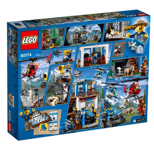 60174 - Quartier generale della polizia di montagna - Lego City - Toys Center ALTRI Maschio 12+ Anni, 5-8 Anni, 8-12 Anni LEGO CITY
