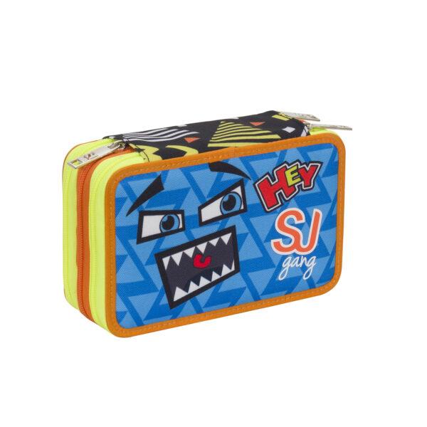 ASTUCCIO 3 ZIP BOY FACCE DA SJ - Seven J Gang - Toys Center ALTRI Maschio 5-8 Anni, 8-12 Anni SEVEN J GANG