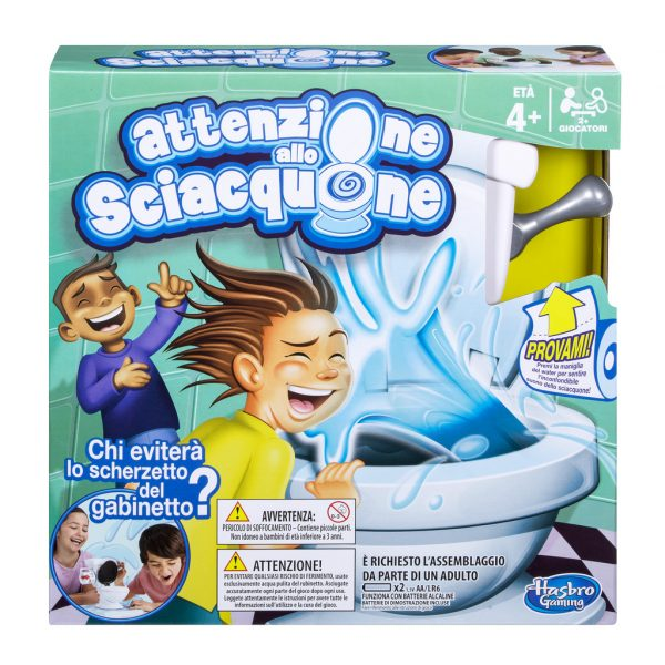 Attenzione allo Sciacquone - Hasbro Games - Toys Center HASBRO GAMES Unisex 12+ Anni, 3-5 Anni, 5-8 Anni, 8-12 Anni ALTRI