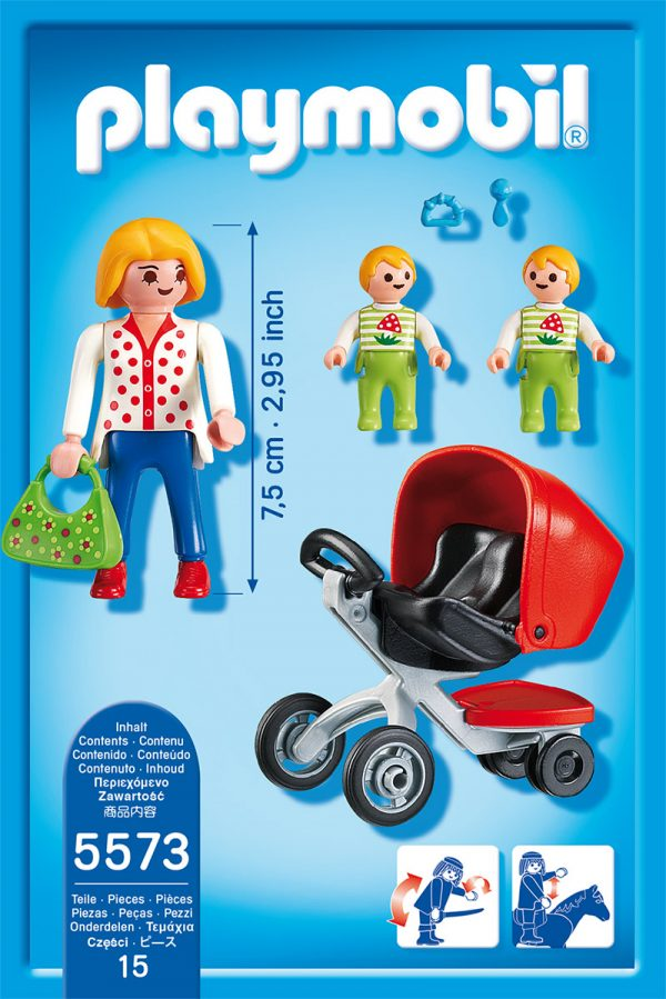 MAMMA CON GEMELLINI - Playmobil - City Life - Toys Center - Playmobil City Life