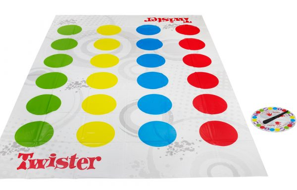 TWISTER - Hasbro Gaming - Toys Center ALTRI Unisex 12+ Anni, 5-7 Anni, 5-8 Anni, 8-12 Anni HASBRO GAMING