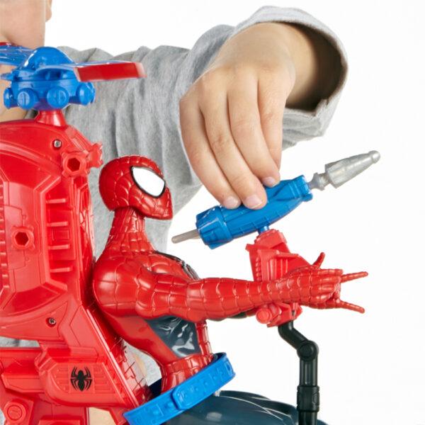Spiderman Marvel Maschio 3-5 Anni, 5-8 Anni ELICOTTERO + ACTION FIGURE SPIDER-MAN 30 cm