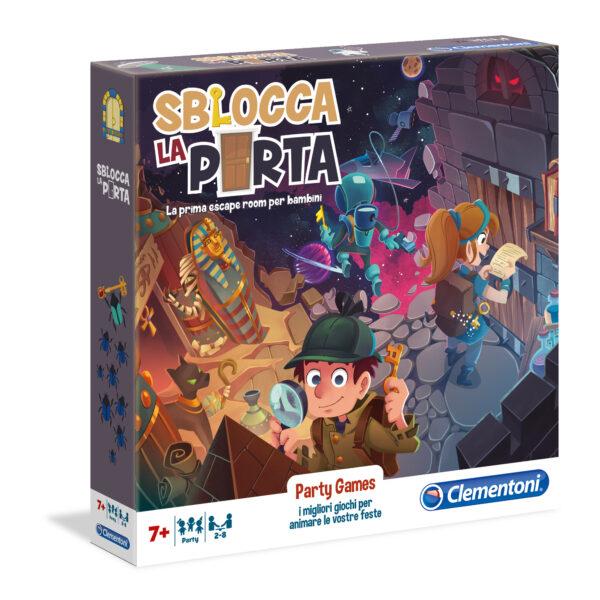 PARTY GAMES - SBLOCCA LA PORTA - CLEMENTONI - GIOCHI DA TAVOLO - Linee CLEMENTONI - GIOCHI DA TAVOLO Unisex 5-8 Anni, 8-12 Anni ALTRI