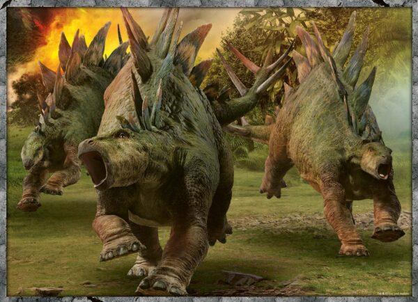 RAVENSBURGER PUZZLE JURASSIC WORLD Jurassic World  - Puzzle 4x100 pezzi Ravensburger Unisex 12+ Anni, 8-12 Anni