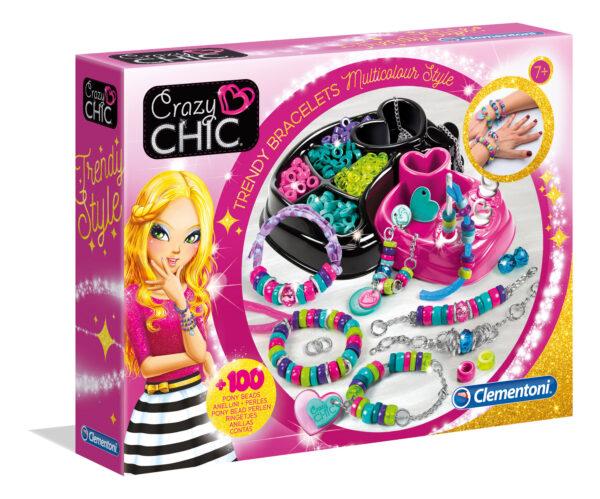 Clementoni - 15180 - Crazy Chic Bracciali Multicolor CRAZY CHIC Femmina 12+ Anni, 5-7 Anni, 8-12 Anni ALTRI