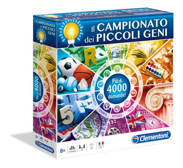 CLEMENTONI - 12990 - Campionato Piccoli Geni CLEMENTONI - GIOCHI DA TAVOLO Unisex 12+ Anni, 5-8 Anni, 8-12 Anni ALTRI