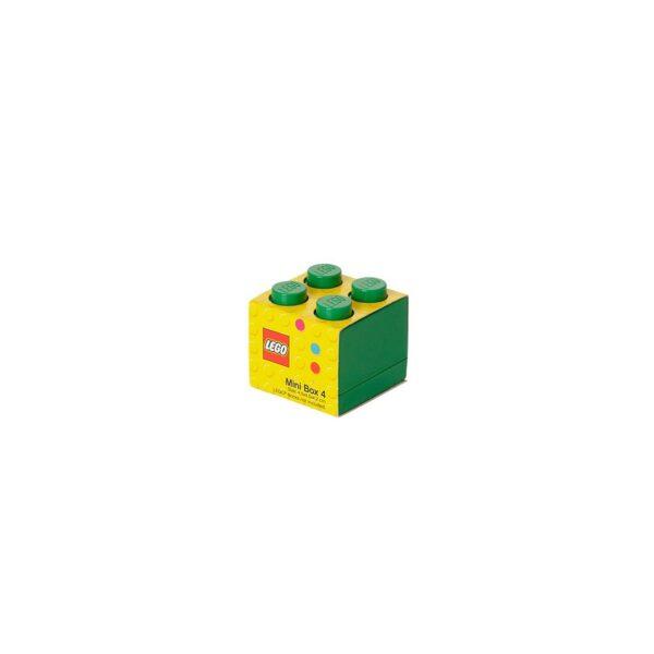 Contenitore LEGO Mini Box 4 Verde - Licenza Lego - LEGO - Marche ALTRI Unisex 12-36 Mesi, 12+ Anni, 3-5 Anni, 5-8 Anni, 8-12 Anni ALTRO