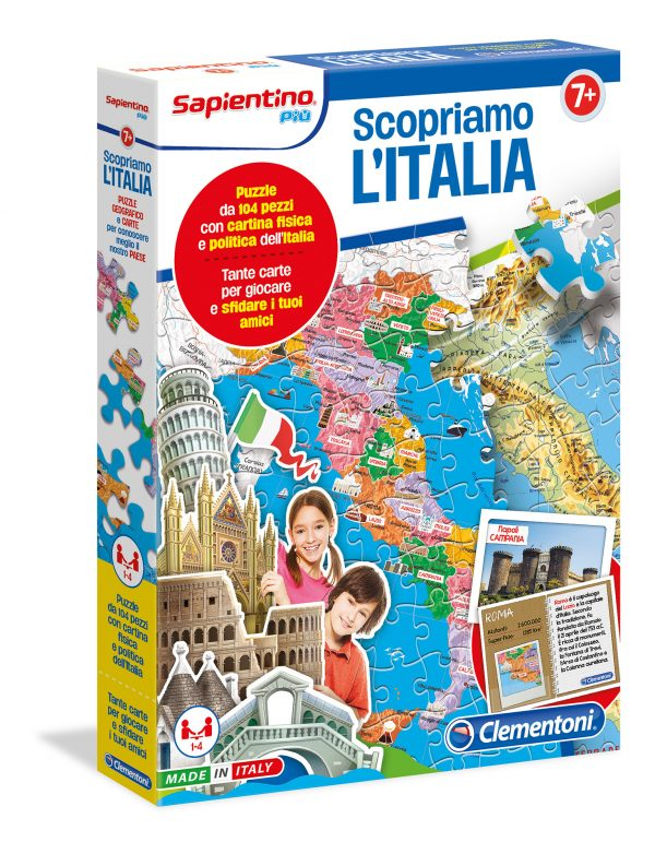 SCOPRIAMO L'ITALIA - CLEMENTONI - GIOCHI DA TAVOLO - Linee CLEMENTONI - GIOCHI DA TAVOLO Maschio 12+ Anni, 8-12 Anni ALTRI
