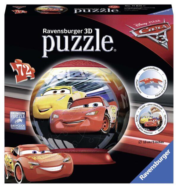 3D Puzzleball - Cars 3 - Altro - Toys Center ALTRO Unisex 5-8 Anni, 8-12 Anni CARS