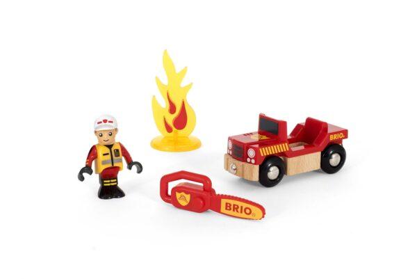 BRIO Set accessori pompiere BRIO TRENINI, VAGONI E ALTRI VEICOLI Unisex 12-36 Mesi, 3-5 Anni, 5-8 Anni, 8-12 Anni ALTRI