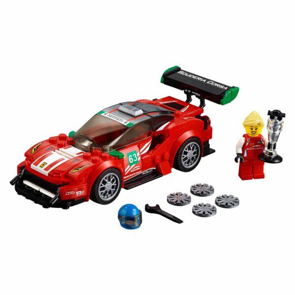 """75886 - Ferrari 488 GT3 """"Scuderia Corsa"""" - Lego Speed Champions - Toys Center - LEGO SPEED CHAMPIONS - Costruzioni"""
