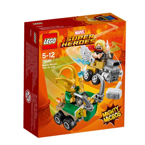 76091 - Mighty Micros: Thor contro Loki LEGO SUPER HEROES Maschio 12+ Anni, 3-5 Anni, 5-8 Anni, 8-12 Anni ALTRI