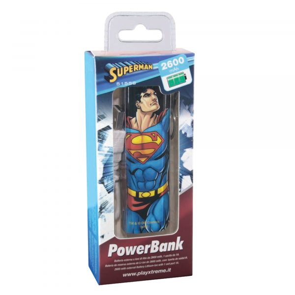 Power Bank - Xtreme - Toys Center SUPERMAN Unisex 12+ Anni, 5-8 Anni, 8-12 Anni XTREME