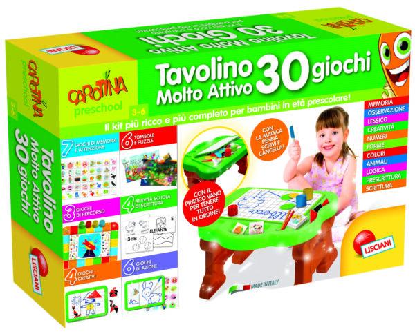 Carotina Tavolino Molto Attivo 30 Giochi CAROTINA Unisex 12-36 Mesi, 3-5 Anni, 5-8 Anni ALTRI