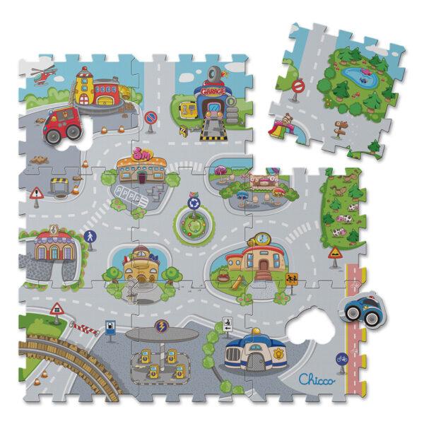 Chicco ALTRI Tappeto Puzzle Città Unisex 0-2 Anni, 3-4 Anni