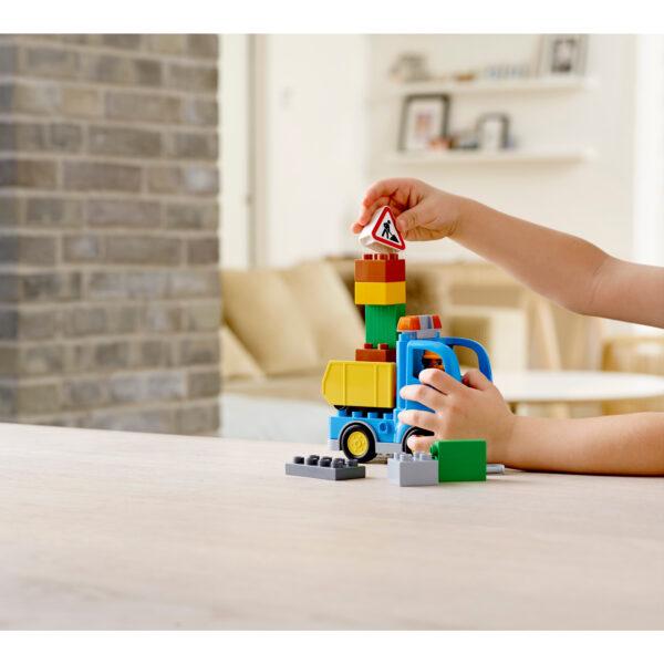 ALTRI LEGO DUPLO Unisex 12-36 Mesi, 3-4 Anni, 3-5 Anni, 5-7 Anni, 5-8 Anni 10812 - Camion e scavatrice cingolata