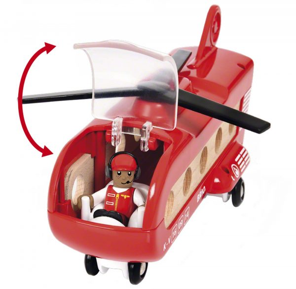 ALTRI BRIO ACCESSORI Unisex 12-36 Mesi, 3-5 Anni, 5-8 Anni, 8-12 Anni BRIO Elicottero trasporto merci