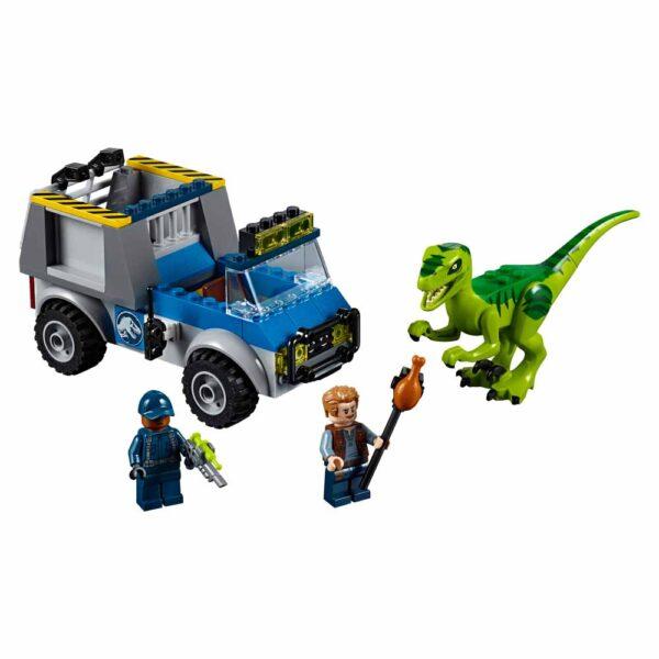 LEGO JUNIORS JURASSIC WORLD 10757 - Camion per il soccorso di Velociraptor - Lego Juniors - Toys Center Unisex 3-5 Anni, 5-8 Anni