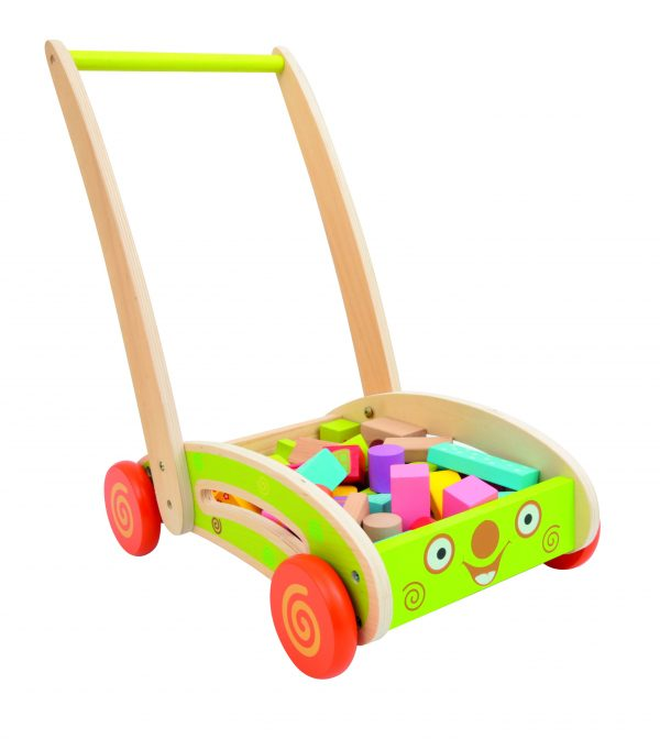 CARRELLINO CON COSTRUZIONI - Toys Center - Toys Center WOOD'N PLAY Unisex 12-36 Mesi, 3-5 Anni, 5-8 Anni TOYS CENTER