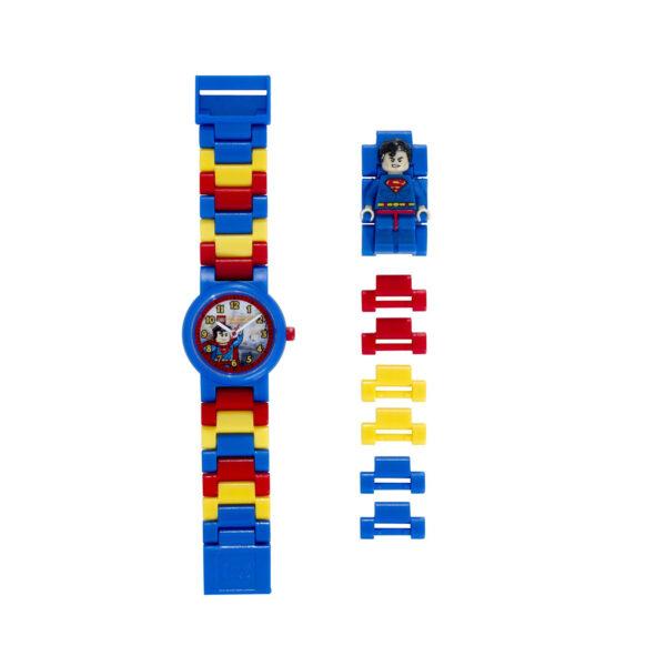 DC COMICS SUPERMAN OROLOGIO LEGO SUPER HEROES SUPERMAN - Licenza Lego - LEGO - Marche Unisex 12+ Anni, 5-8 Anni, 8-12 Anni
