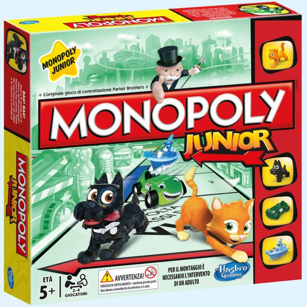 MONOPOLY JUNIOR - Hasbro Gaming - Toys Center HASBRO GAMING Unisex 3-5 Anni, 5-7 Anni, 5-8 Anni, 8-12 Anni ALTRI