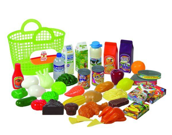 FUNNY HOME Borsa della spesa con frutta e verdura FUNNY HOME Femmina 12-36 Mesi, 3-5 Anni, 5-8 Anni, 8-12 Anni ALTRI