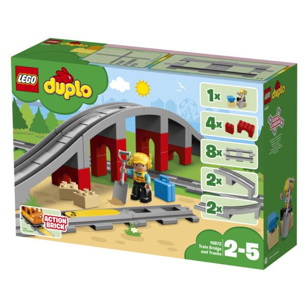 10872 - Ponte e binari ferroviari ALTRI Unisex 12-36 Mesi, 12+ Anni, 3-5 Anni, 5-8 Anni, 8-12 Anni LEGO DUPLO
