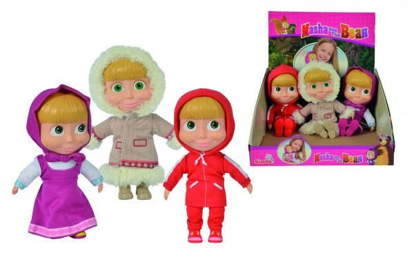 Bambola Masha cm23 abiti assortiti ALTRO Femmina 12-36 Mesi, 12+ Anni, 8-12 Anni Masha e Orso