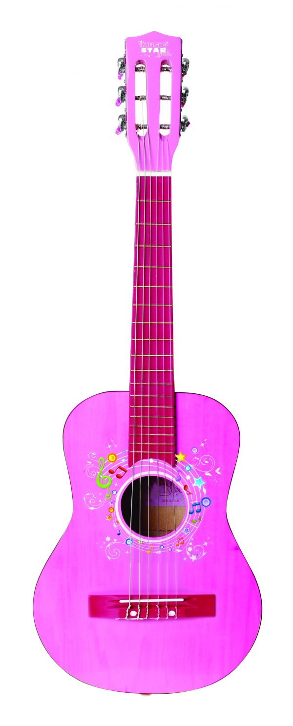 MUSIC STAR Chitarra in legno girl 75 cm MUSICSTAR Femmina 3-5 Anni, 5-7 Anni, 5-8 Anni, 8-12 Anni MUSIC STAR