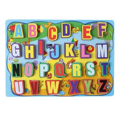 WOOD'N PLAY Puzzle numeri e lettere ALTRO Unisex 0-12 Mesi, 12-36 Mesi, 3-5 Anni, 5-8 Anni ALTRI