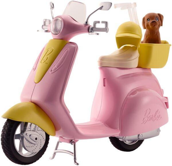 Barbie - Scooter & Cagnolino, con cucciolo e casco inclusi - FRP56 - Barbie - Fashion dolls