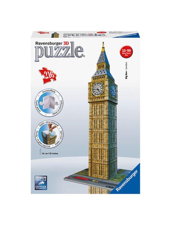 Puzzle 3D Big Ben - Ravensburger Puzzle 3d - Toys Center RAVENSBURGER PUZZLE 3D Unisex 12+ Anni, 8-12 Anni ALTRI