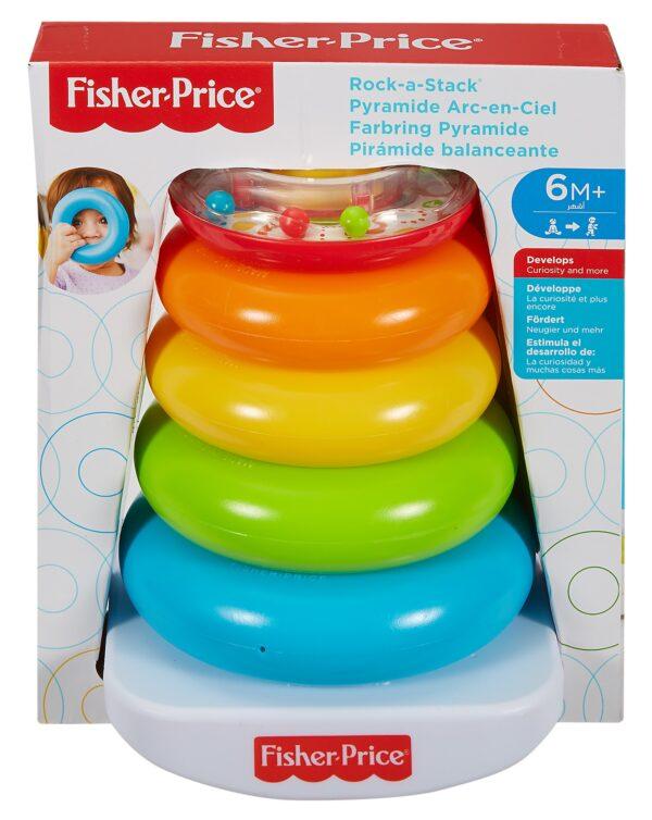 Fisher Price- Piramide 5 Anelli, Giocattolo Impilabile per Bambini 6+ Mesi - FISHER-PRICE - Giochi elettronici e bilingue